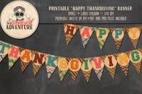 Printable Happy Thanksgiving Banner ~ Objects on Creative ...