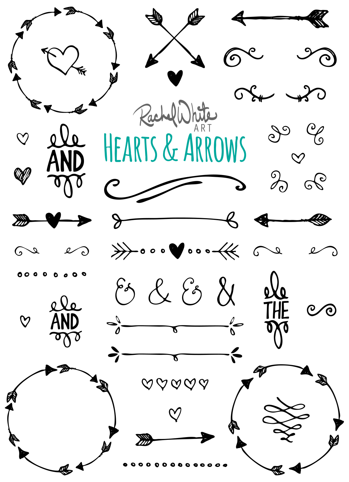 Hearts  Arrows  Vector  PNG  Illustrations on Creative