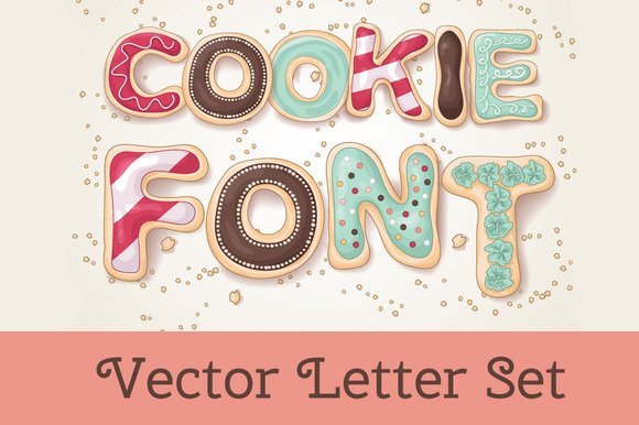 Cookie Alphabet Objects On Creative Market