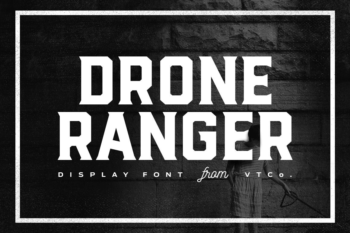 Drone Ranger Display Font Display Fonts On Creative Market