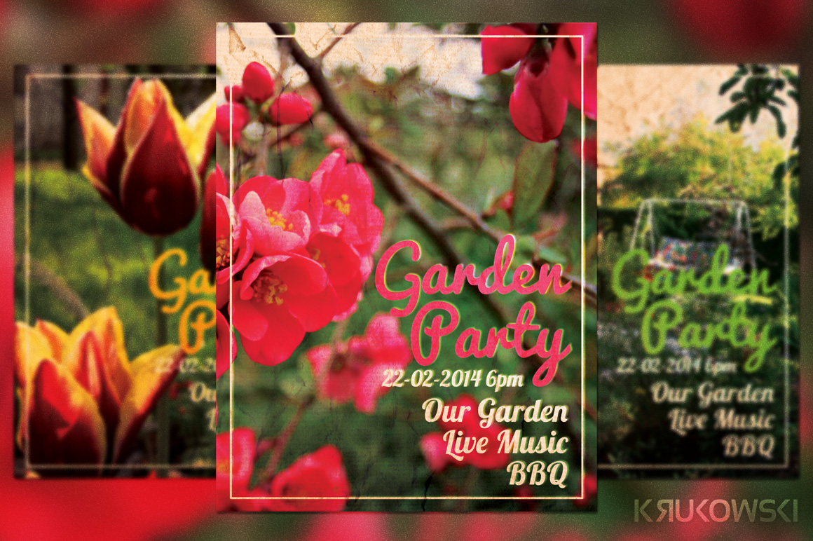 Garden Party Flyer Flyer Templates On Creative Market