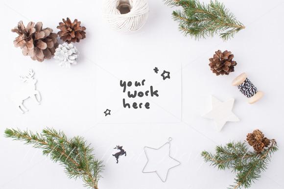Christmas Styled Stock Photo Bonus Product Mockups On