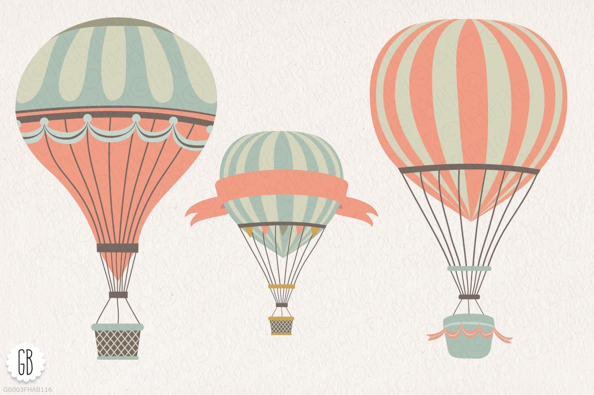 hot air balloon flowers clip art