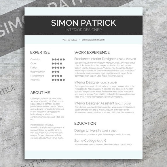 Smart Word CV & Cover Letter Resume Templates On