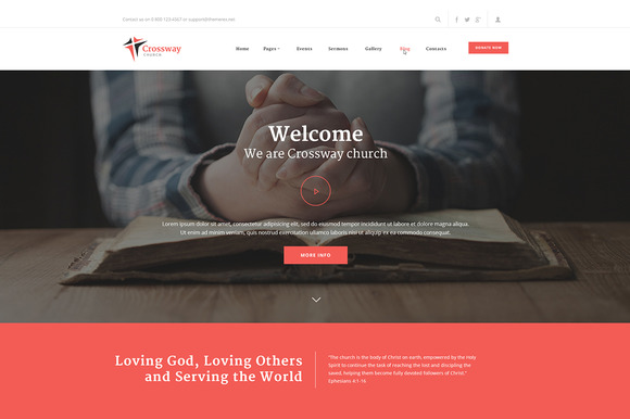 CrossWay WordPress Theme