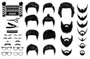 psd men hairstyles beards mustache