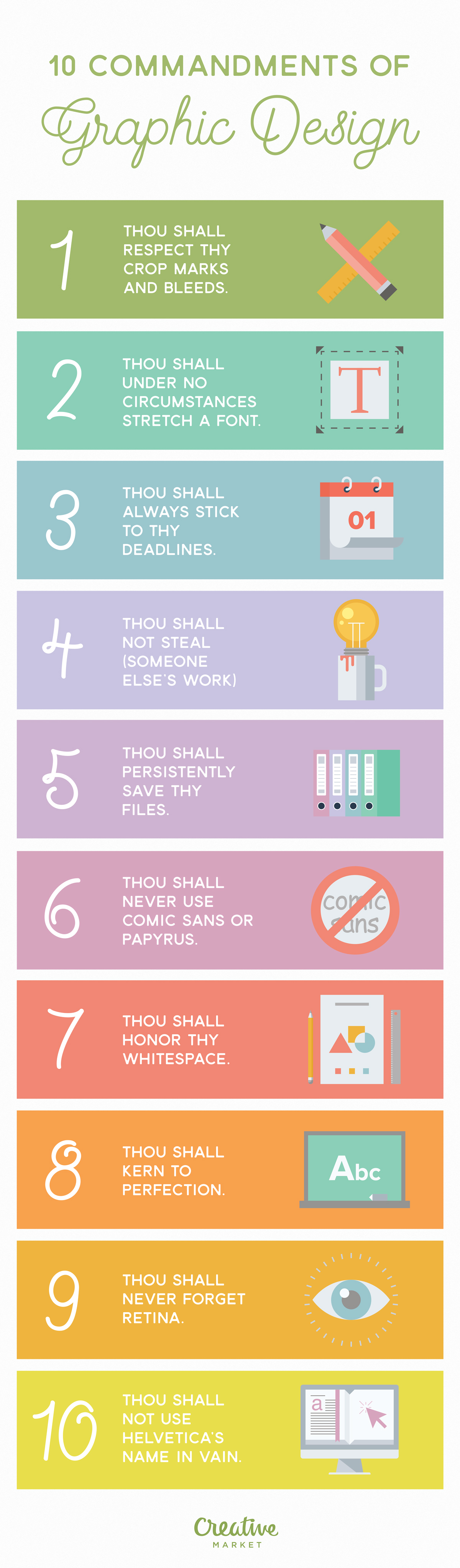 Infographic 10 Commandments Of Graphic Design Creative