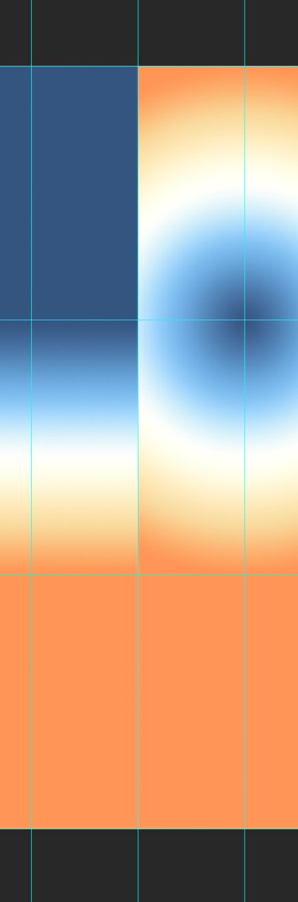 Gradients file close up