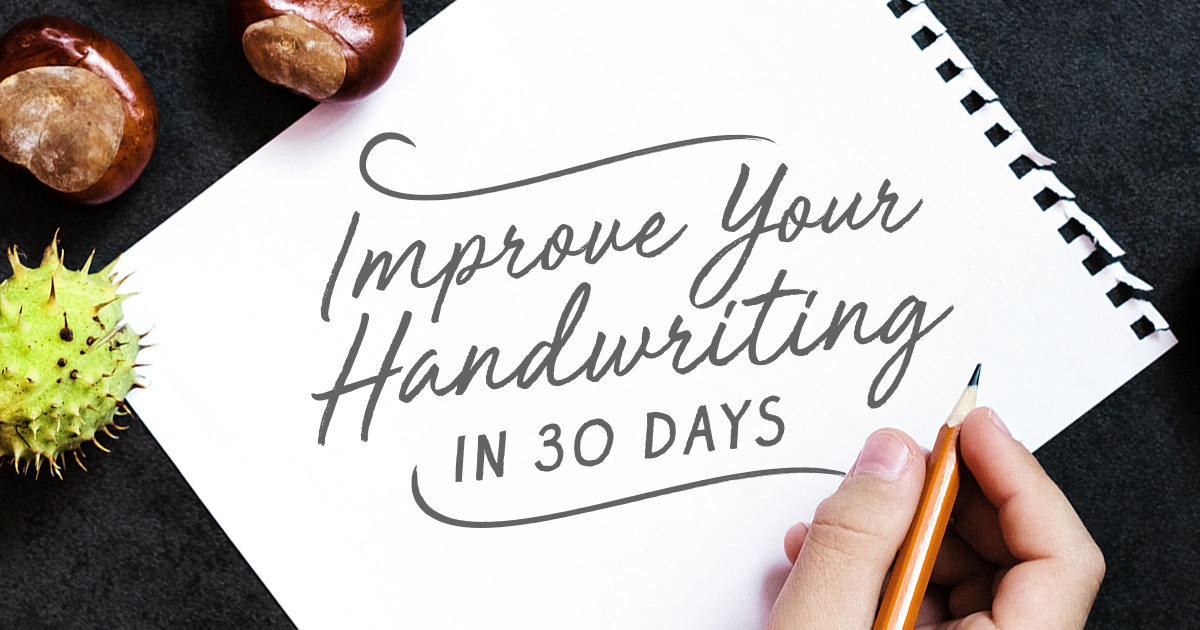 How To Improve Your Handwriting In 30 Days The Challenge Creative Market Blog