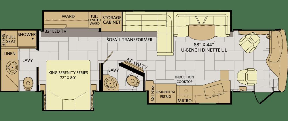 2007 Fleetwood Bounder Floor Plans