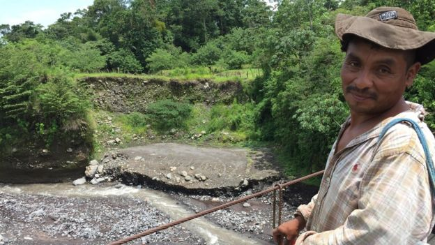 Jaime Bosch perdió su casa en la erupción. BBC NEWS MUNDO