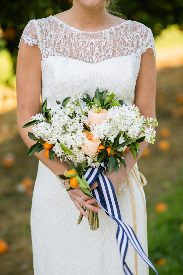southern-wedding-orange-and-white-bouquet