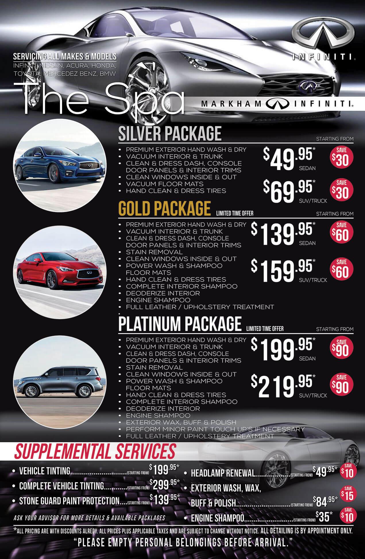 Car Amp SUV Detailing Packages Markham Infiniti