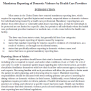 Mandatory Reporting Of Domestic Violence By Healthcare