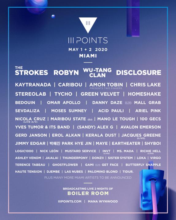 iii points lineup