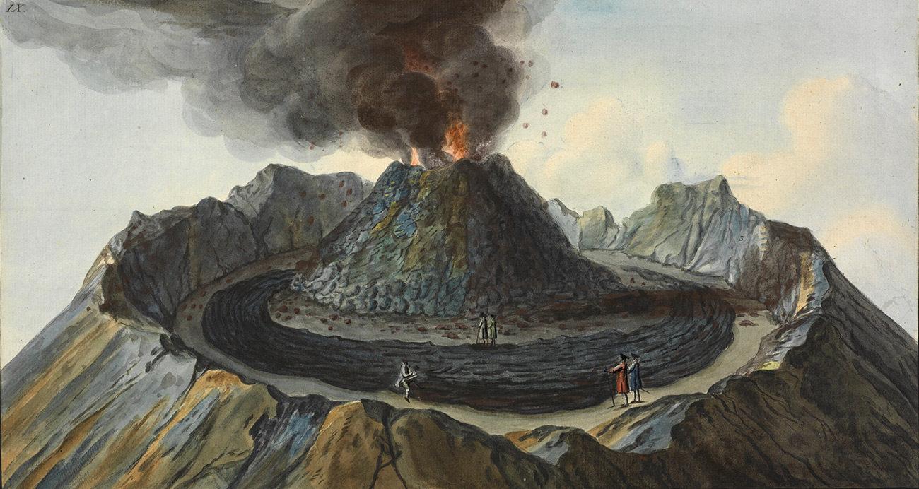 hight resolution of volcano observer sir william hamilton and mount vesuvius