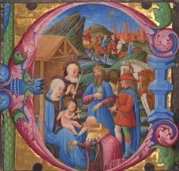 giving ages middle choir gift cutting medieval museum 1470s king getty european renaissance african gold balthazar dei russi franco medievalists