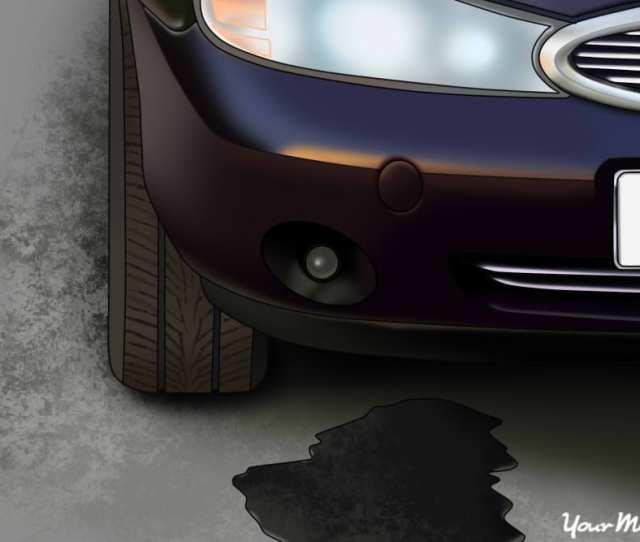 Leak On Ground Beside Car