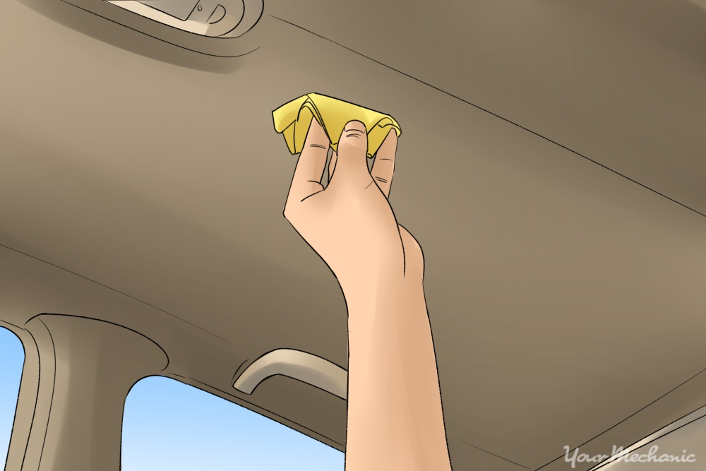how to clean car upholstery roof