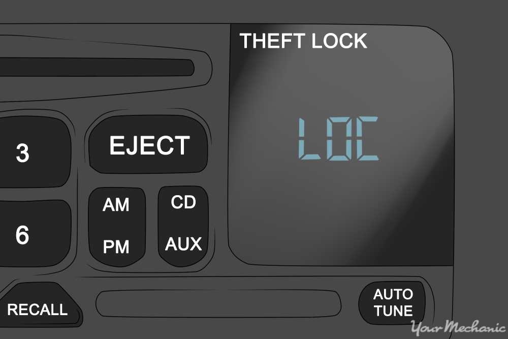 gm radio theft lock typical house electrical wiring diagram how to unlock a chevrolet theftlock | yourmechanic advice