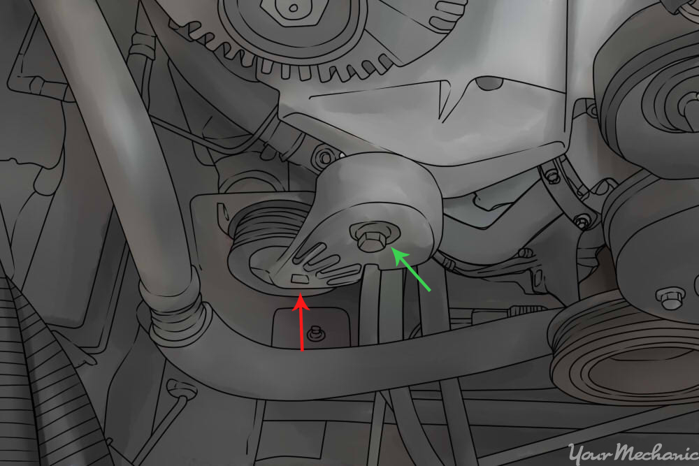 The Serpentine Belt Routing Diagram Without A C Air Conditioning