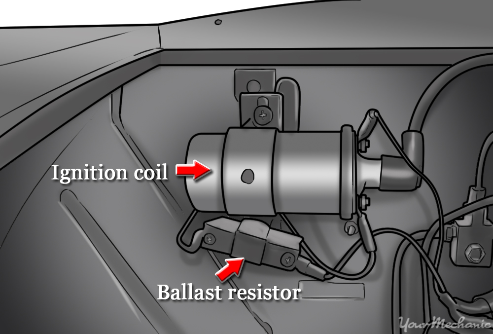 how to wire a ballast resistor diagram single line electrical house wiring replace yourmechanic advice mounted engine compartment