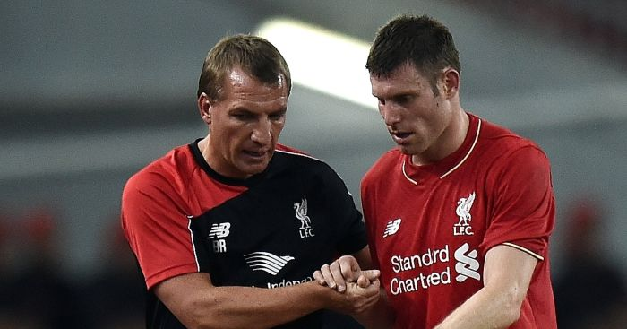 James Milner Brendan Rodgers Liverpool