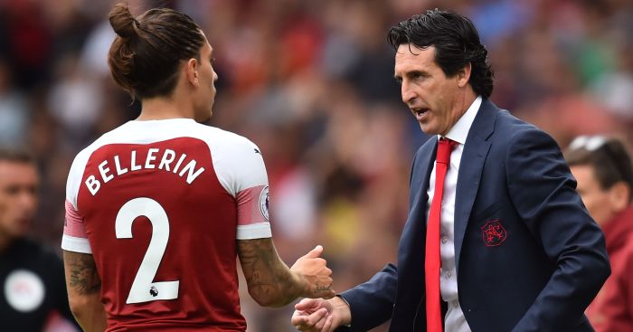 Unai Emery Hector Bellerin TEAMtalk