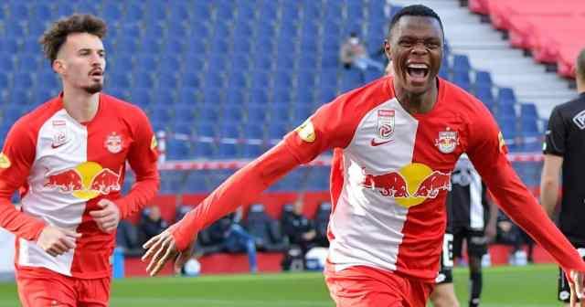 Patson Daka, RB Salzburg celebration,