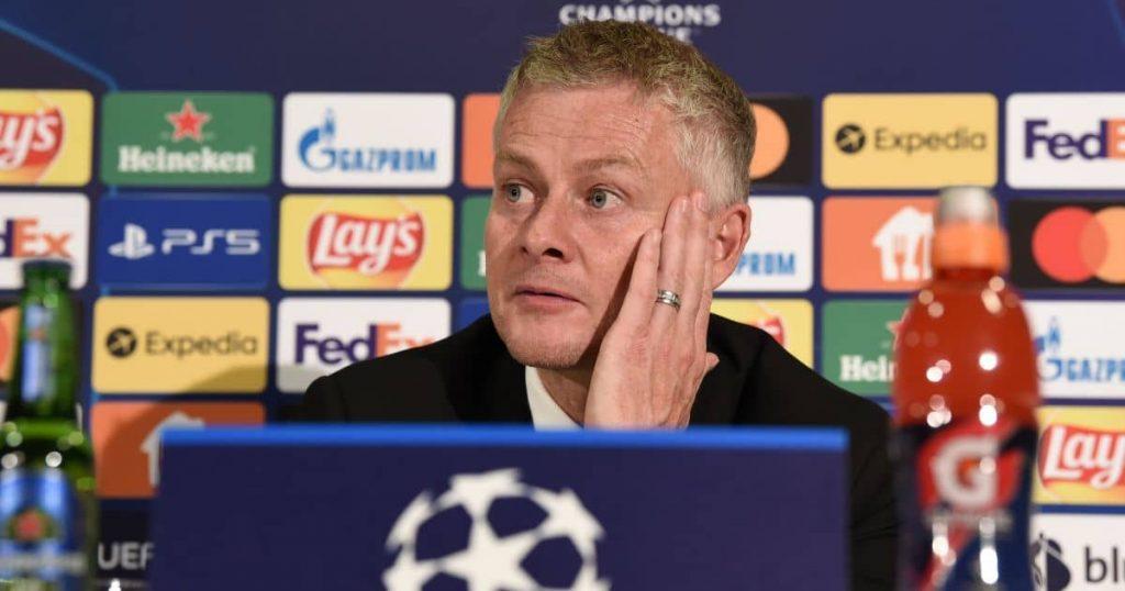 Manchester United coach Ole Gunnar Solskjaer, Champions League press conference