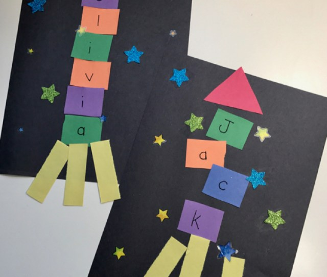 Outer Space Crafts Alphabet Spaceship Craft  E  A The Inspired Home