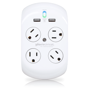 360 Electrical 36037 Surge Protector, Revolve+ 15A 120V 4