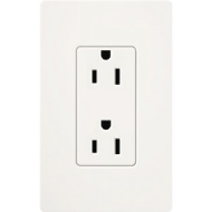 Lutron SCR-15-SW Electrical Outlet, Satin Colors Duplex