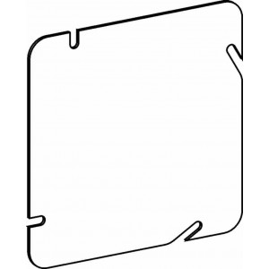 6 In Square Steel Electrical Box Cover Square Light