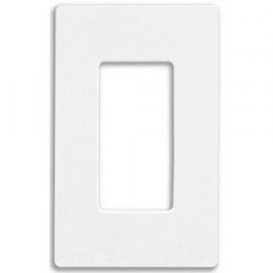 Lutron CW-1-WH Screwless 1-Gang Wall Plate, Claro