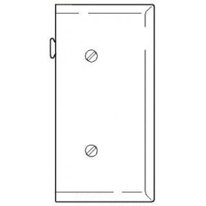 Cooper Wiring STE14V Decora-Style Wall Plate, (1) Blank