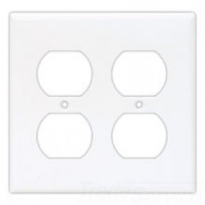 Cooper Wiring 5150W-BOX Decora-Style Wall Plate, (2