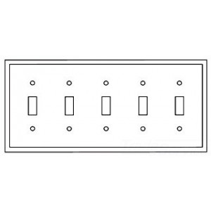Cooper Wiring PJ5W Decora-Style Wall Plate, (5) Toggle