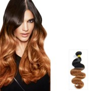 two tone ombre body wavy indian