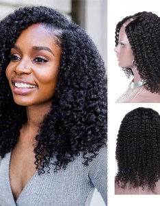 inch  kinky curly indian remy hair  part wigs pwu also rh besthairbuy