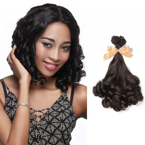 14 Inch - 20 Inch Virgin Brazilian Remy Hair Weft Funmi Curly Natural Black 100g