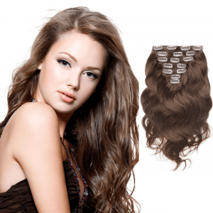 USA Stock 70g 16 Inch #4 Chocolate Brown Body Wavy Clip In Hair PC939