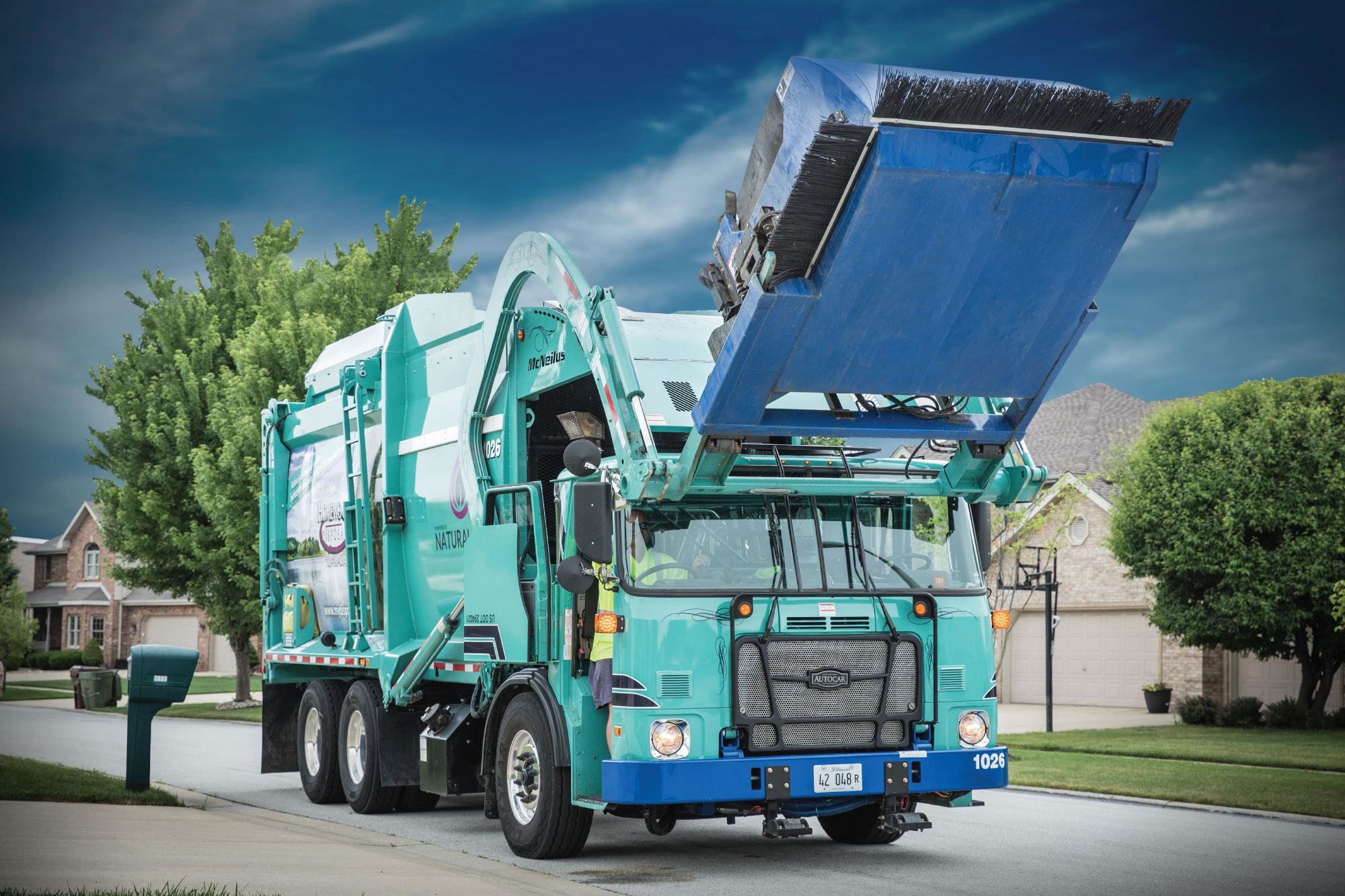 hight resolution of 2017 autocar acx64 resi front load garbage truck select your body dual drive