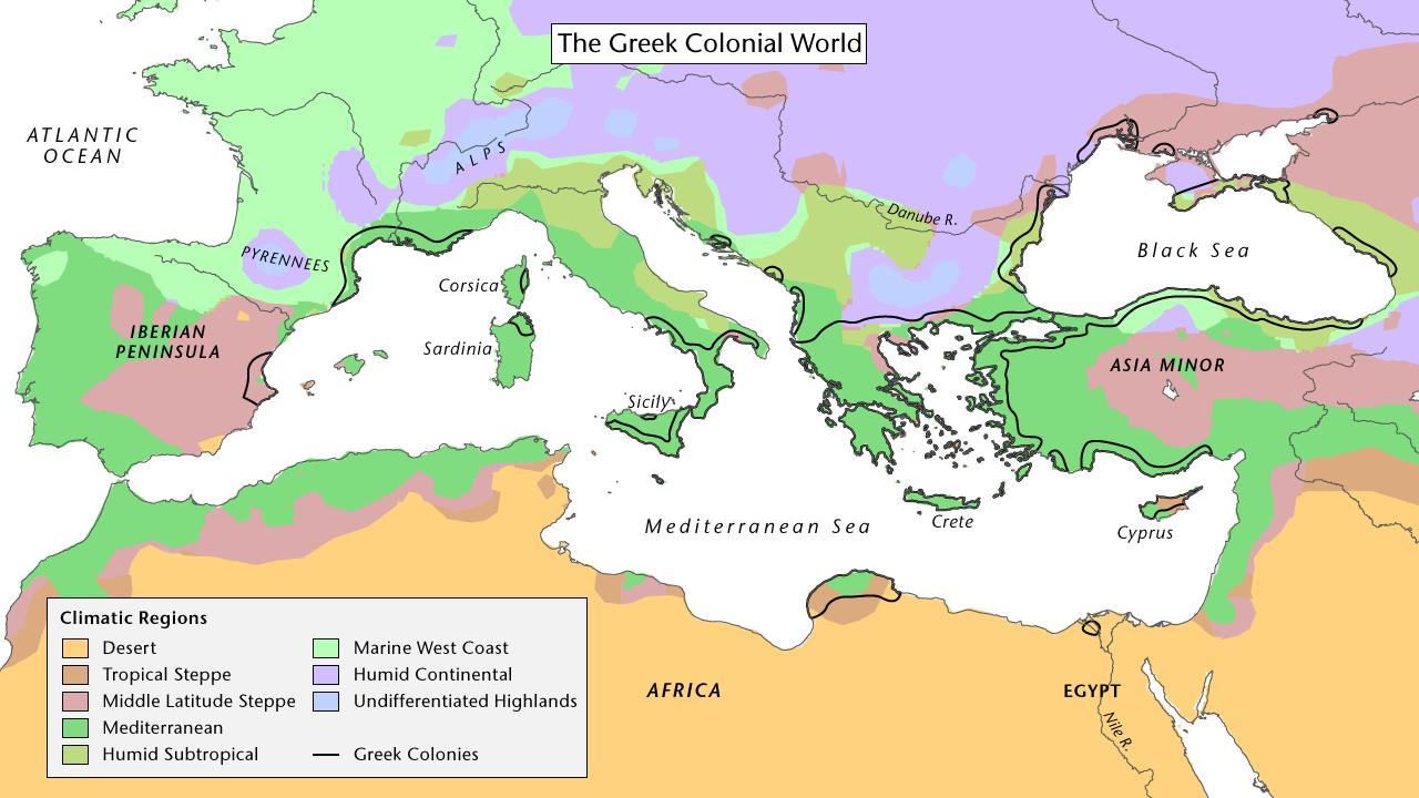 hight resolution of The Greeks Colonize the Mediterranean   PBS LearningMedia