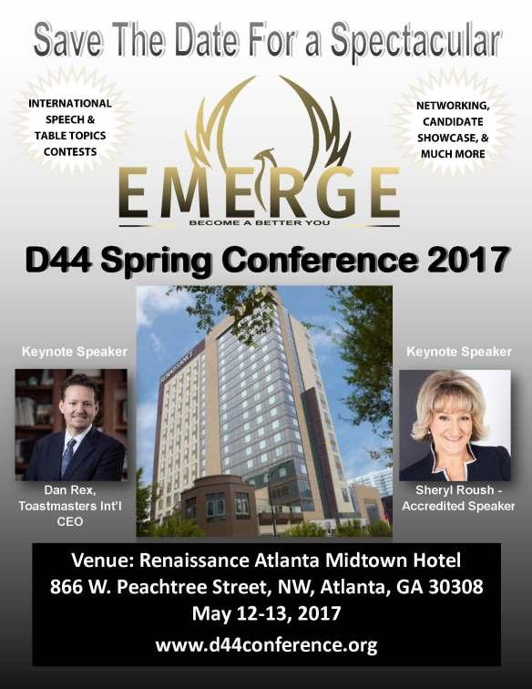 2017 Spring Conference flyer