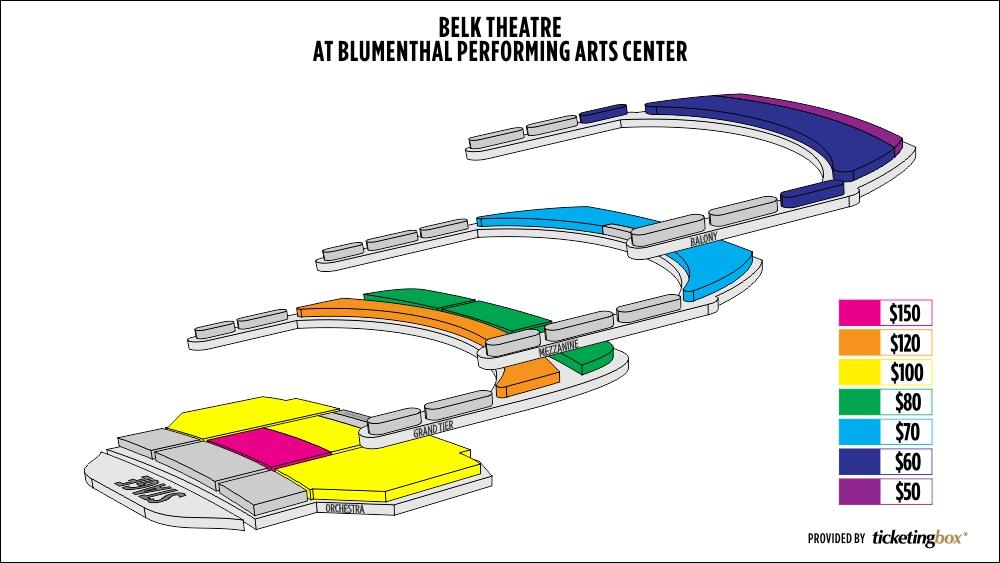 Blumenthal performing arts seating chart ibov jonathandedecker com