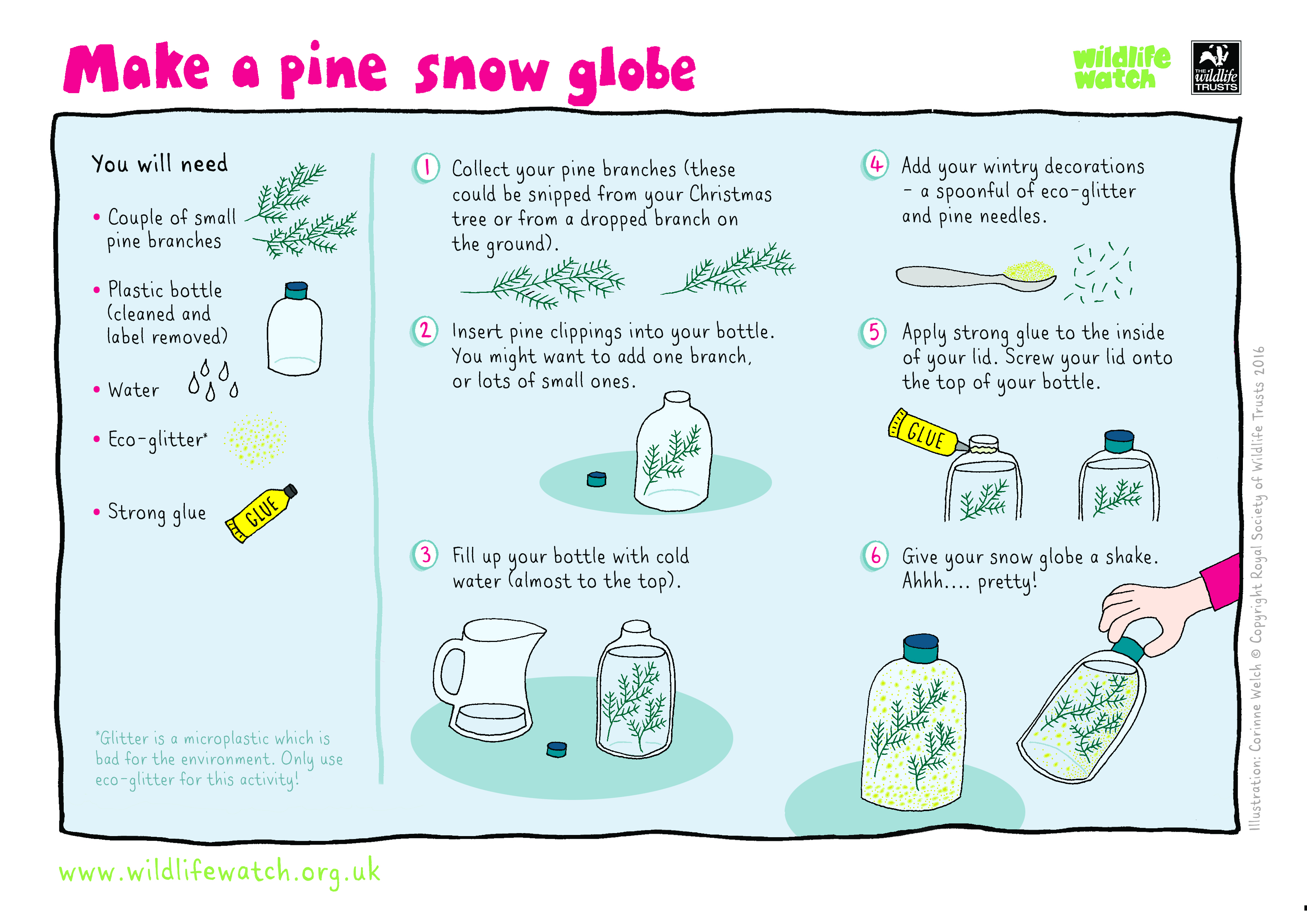 One For The Kids Make Your Own Pine Snow Globe