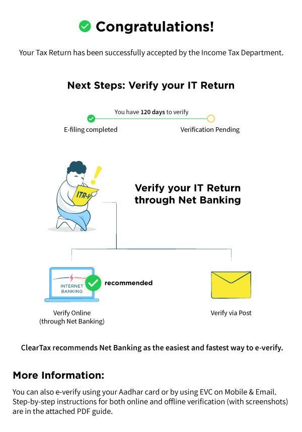 How to e verify ITR - Income Tax Return via Netbanking