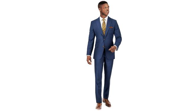 Sky Blue Wool Mohair Suit