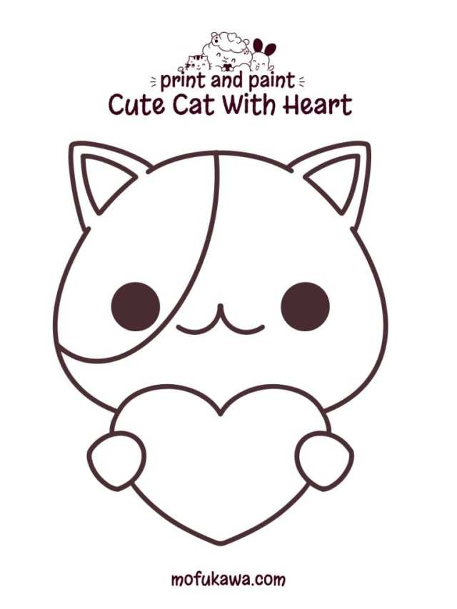 Printable Kitten Coloring Pages - For Kids And Adults